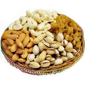 Basket of mixed dry fruits